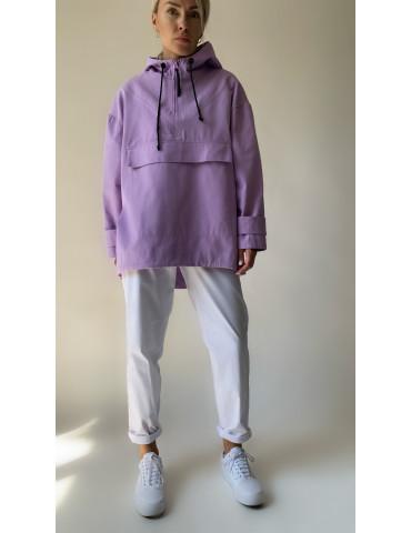 Denim cotton anorak