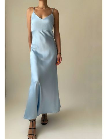 Dress combination from satin