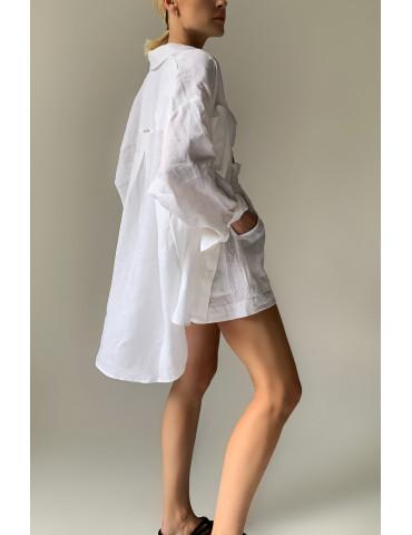 OVERSIZE long linen shirt